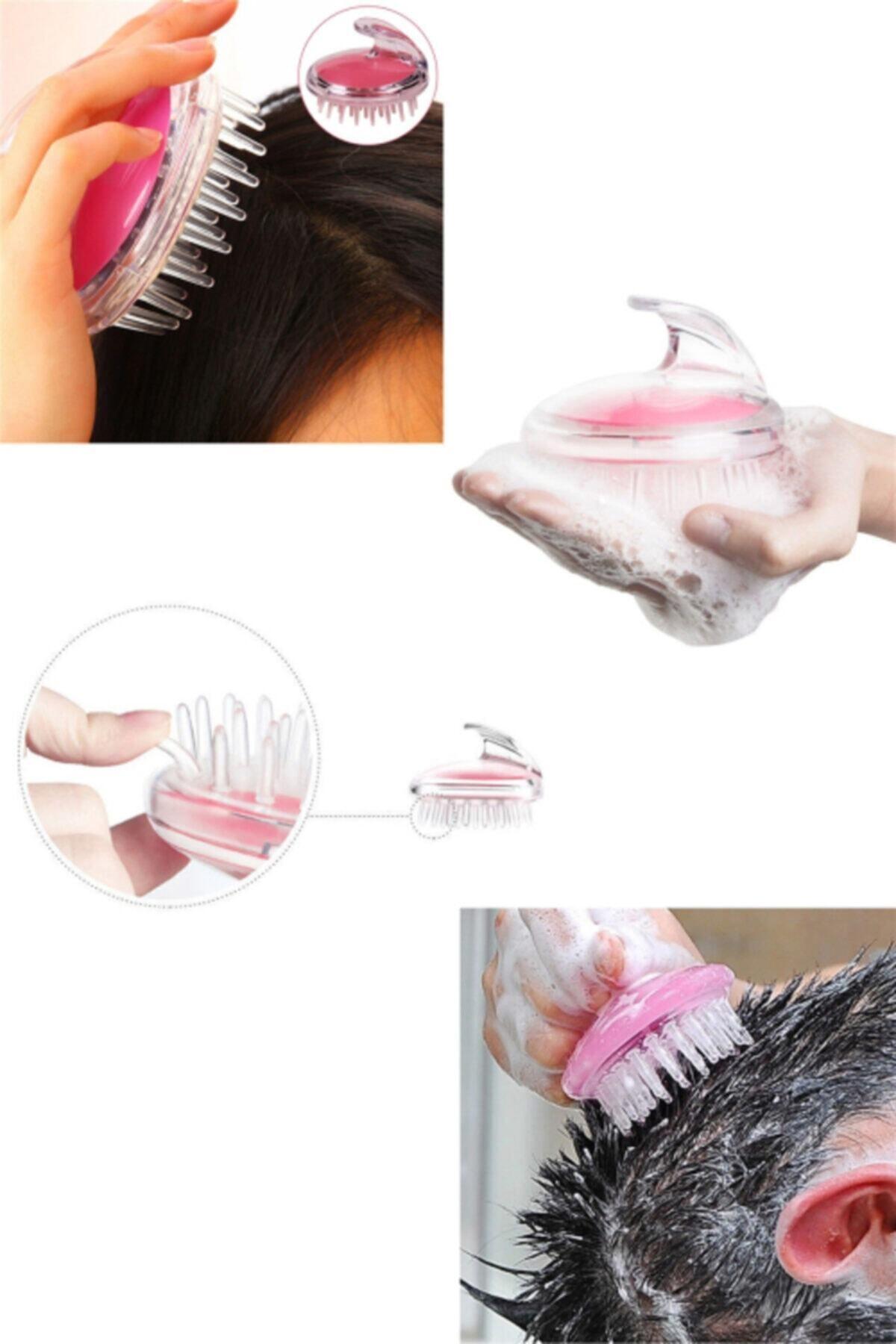 Selenica Yumuşak Silikon Dişli Saç Derisi Masaj Şampuan Duş Fırçası, Yetişkin, Çocuk, Evcil Hayvan Için 1