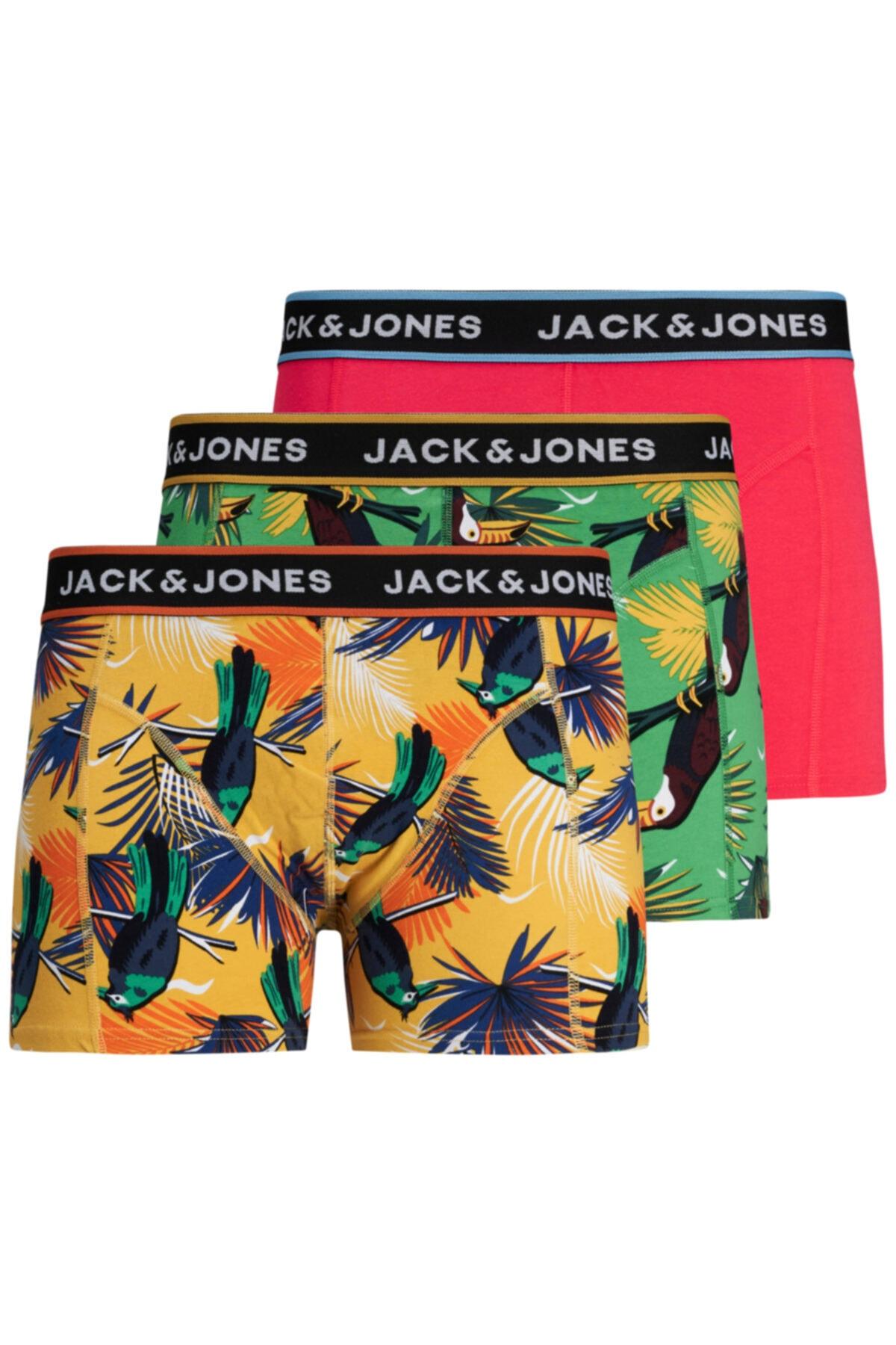 Jack & Jones Jack Jones Summer Anımals 3 Lü Paket Erkek Boxer 1