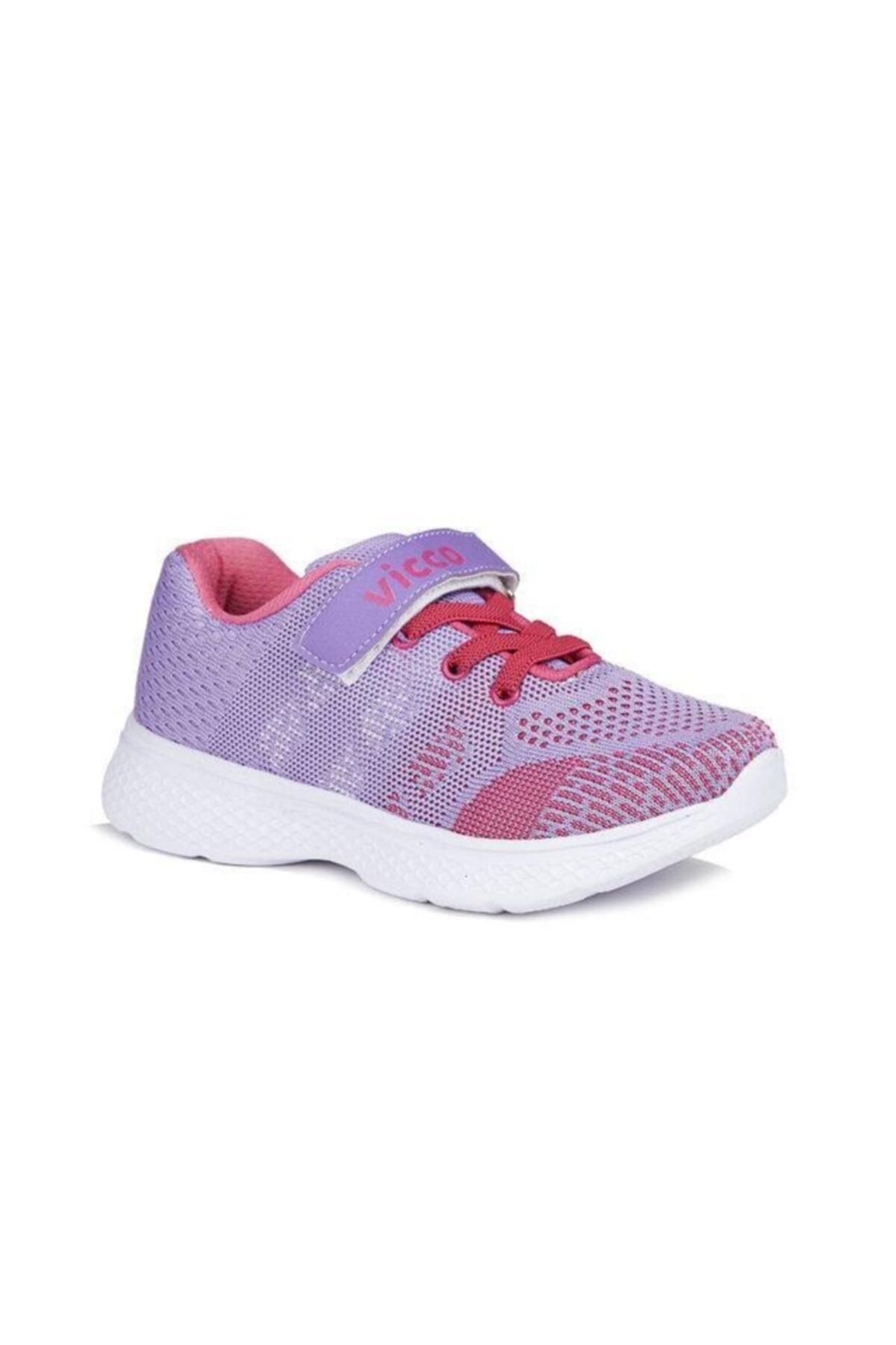 Vicco 346.p20y.215 Hutson Kız Çocuk Spor Ayakkabı Lila 26-29 1