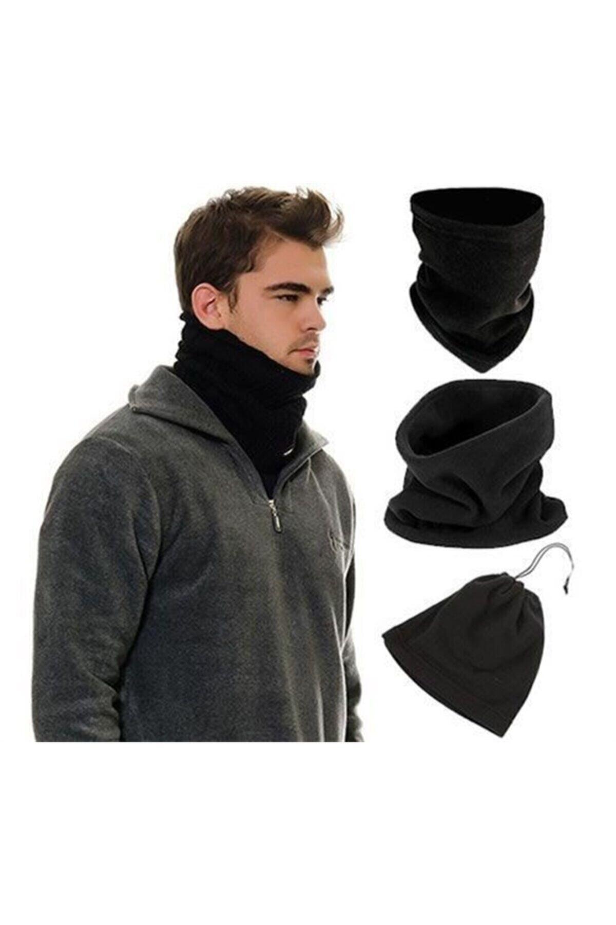 Dekorix Polar Boyunluk Bere Erkek Bayan Aksesuar Siyah Gri Haki Şapka 1