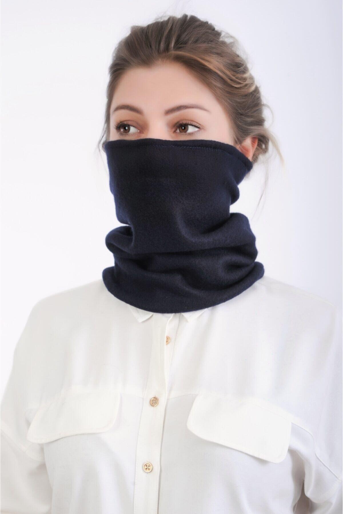 Dekorix Polar Boyunluk Bere Erkek Bayan Aksesuar Siyah Gri Haki Şapka 2