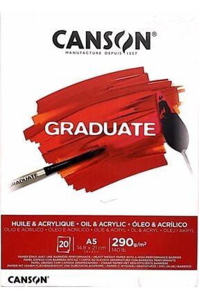 Canson Graduate Akrilik - Yağlıboya Defteri 290gr A5 20 Yaprak