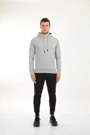 New Balance Erkek Gri Kapüşonlu Sweatshirt Mph023-ag
