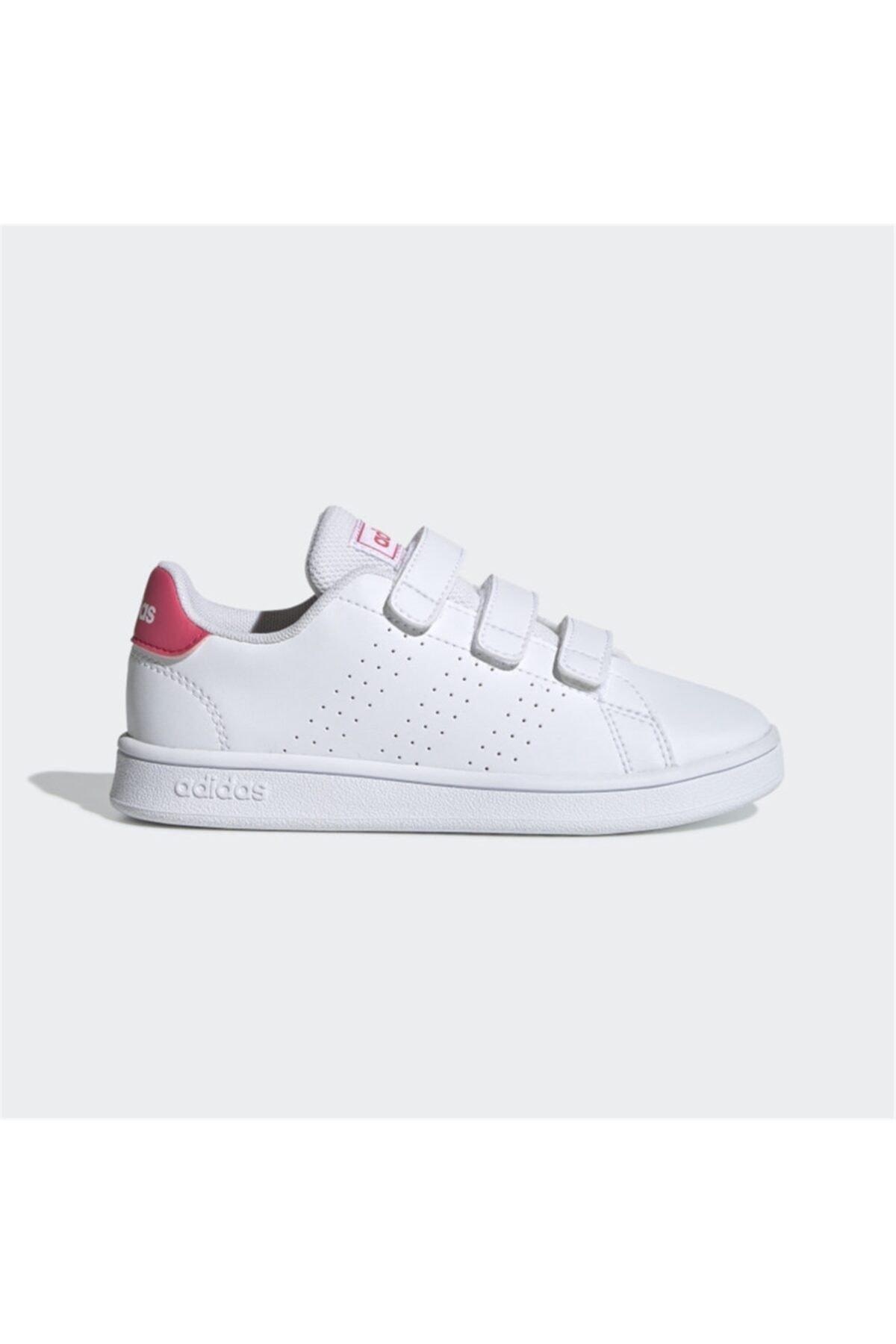 adidas ADVANTAGE Beyaz Kız Çocuk Sneaker Ayakkabı 100481652 1