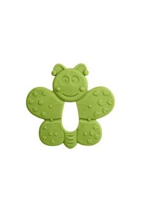 Bambino Kauçuk Yumuşak Diş Kaşıyıcı Yeşil Kelebek