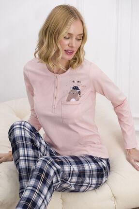 Pierre Cardin Kadın Somon Rengi Kadın Pijama Takımı 7611