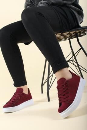 Oksit Kadın Elegan Süet Sneaker