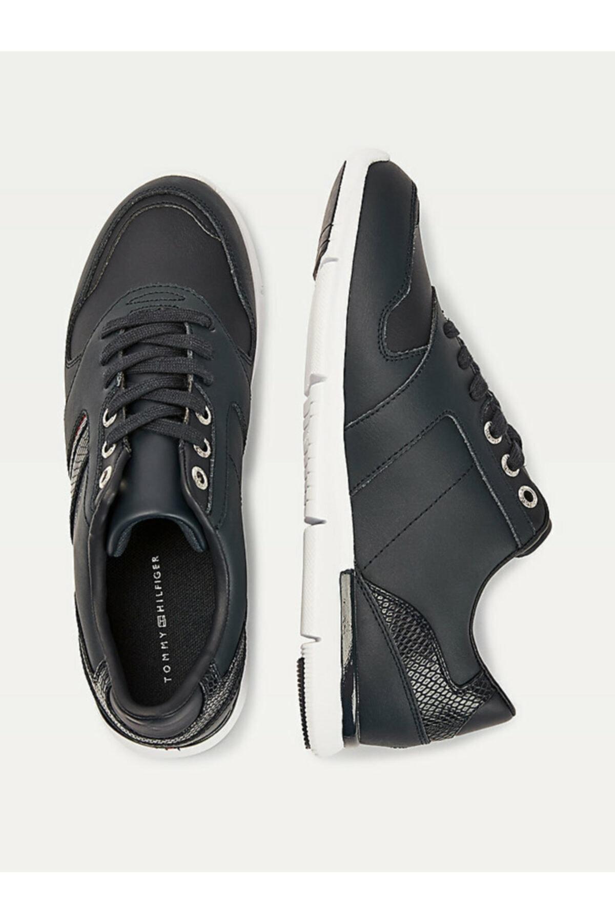 Tommy Hilfiger Kadın Mavi Sneaker Corporate Lıghtweıght Sneaker FW0FW05244 2