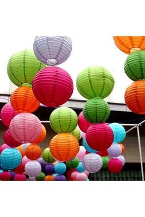 Samur Japon Feneri Kağıt Süs 6 Adet Karışık Renk 30 Cm
