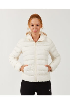 SKECHERS Outerwear W Padded Lightweight Hooded Jacket Kadın Bej Mont S202120-614