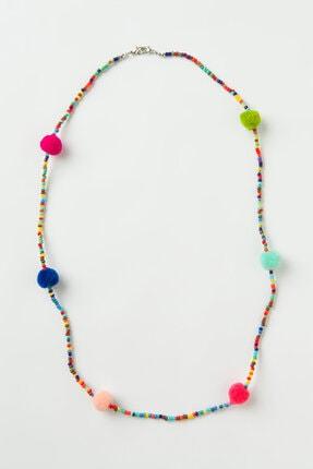 Penti Çok Renkli Ponpon Chain Maske Askısı