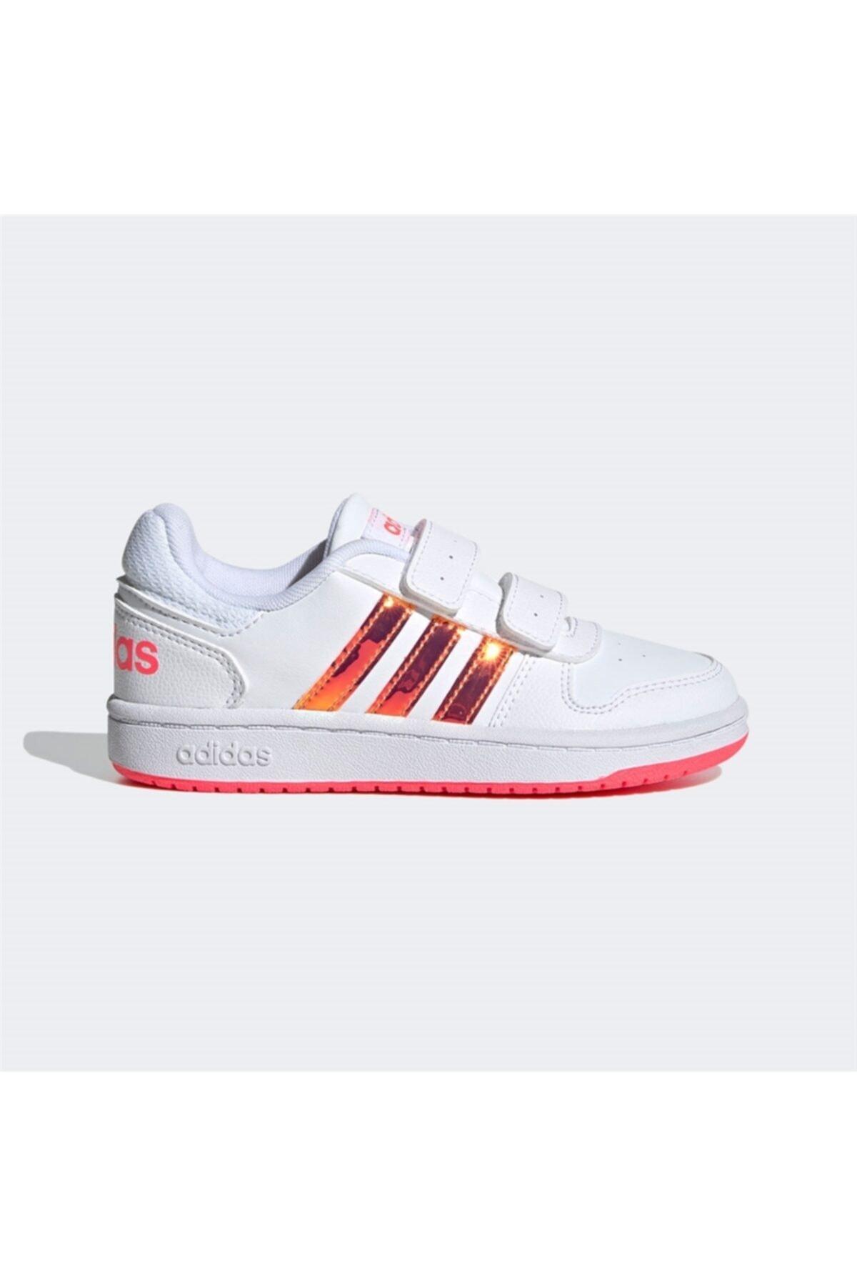 adidas HOOPS 2.0 CMF C Beyaz Kız Çocuk Sneaker Ayakkabı 100663752 1