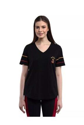 Galatasaray Kadın Siyah Kısa Kol Tshirt