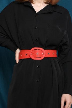 julude Kadın Kırmızı Kemer