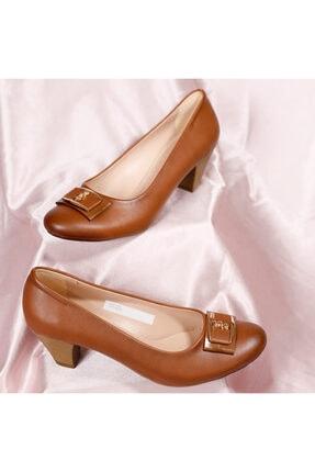 PUNTO Kadın Taba Yumurta Topuklu Ayakkabı