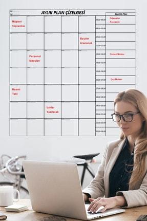 Tutunabilir Kağıt Aylık Planlayıcı Akıllı Kağıt Tahta Takvim Yazı Tahtası + Kalem 110x100 Cm