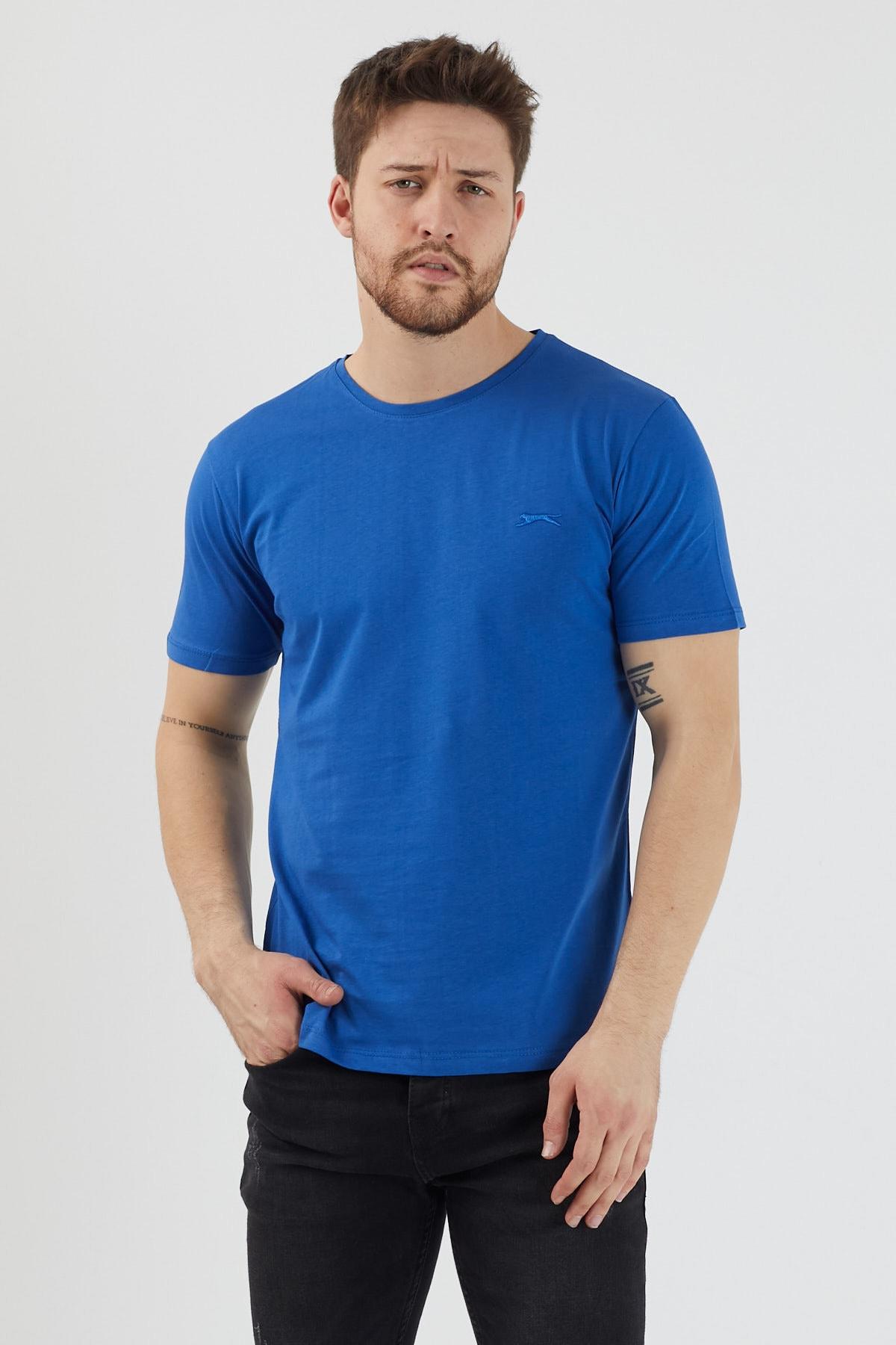 Slazenger SANDER Erkek T-Shirt Saks Mavi ST11TE083