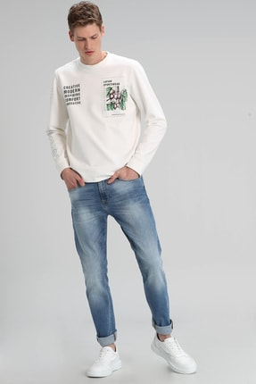 Lufian Edgar Smart Jean Pantolon Slim Fit Açık Mavi