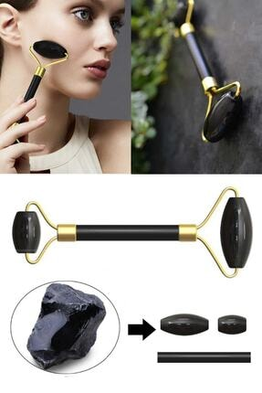 xolo Jade Roller Obsidian Taşı Cilt Yenileyici Yeşim Taşı Yüz Masaj Aleti