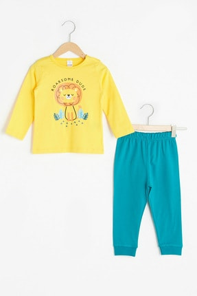 LC Waikiki Erkek Bebek Orta Sarı Gau Pijama Takımı
