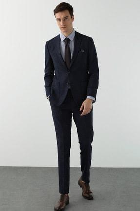 Network Erkek Slim Fit Lacivert Desenli Takım Elbise 1078624