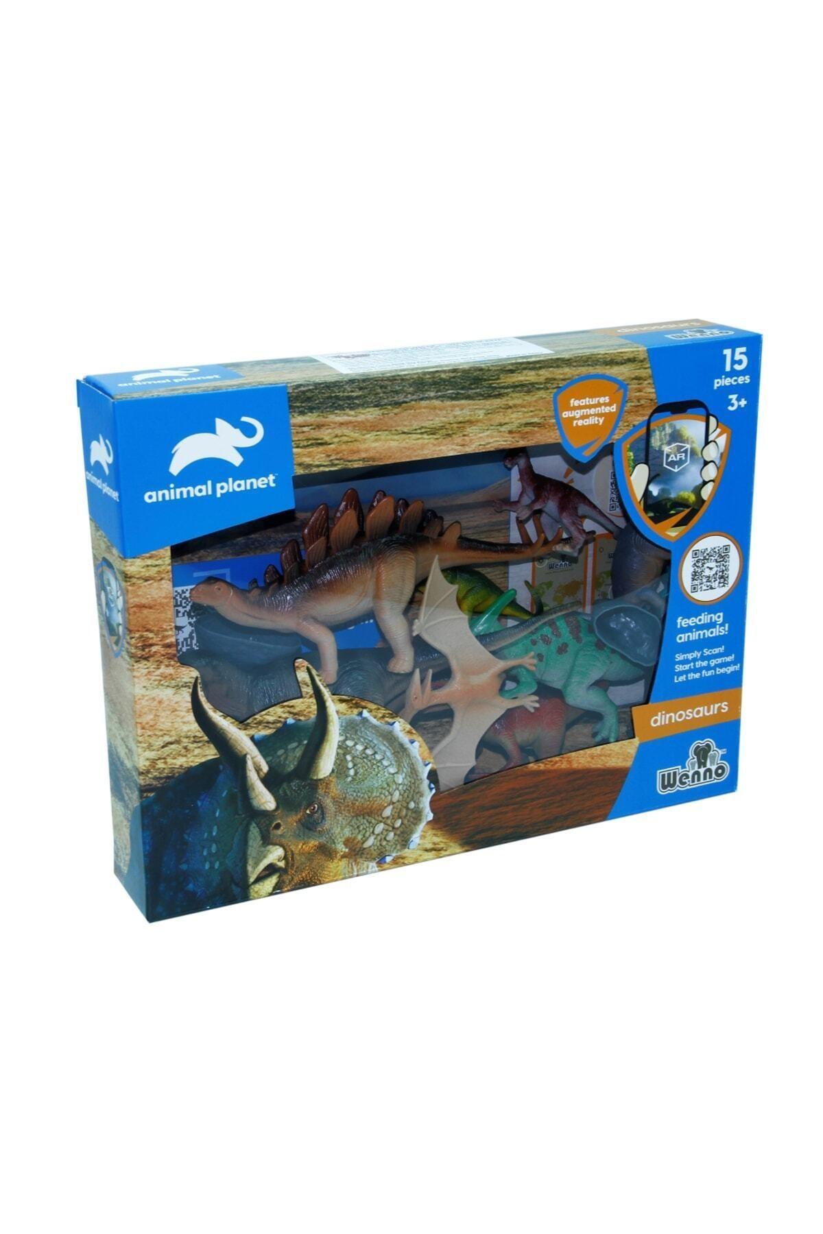 Vardem Oyuncak Dinazor Hayvan Seti 15 Parça Kutulu Dinozor 1