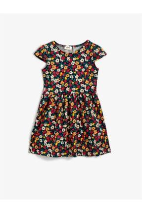Koton Kız Çocuk Çiçekli Elbise Pamuklu
