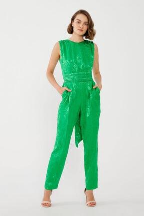 adL Kadın Yeşil Arkası Bağcıklı Tulum
