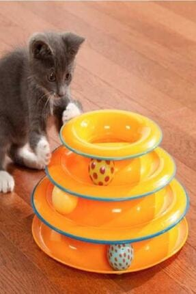 TİNEKE Toplu Yuvarlak Kedi Oyuncağı Kedi Eğlencesi