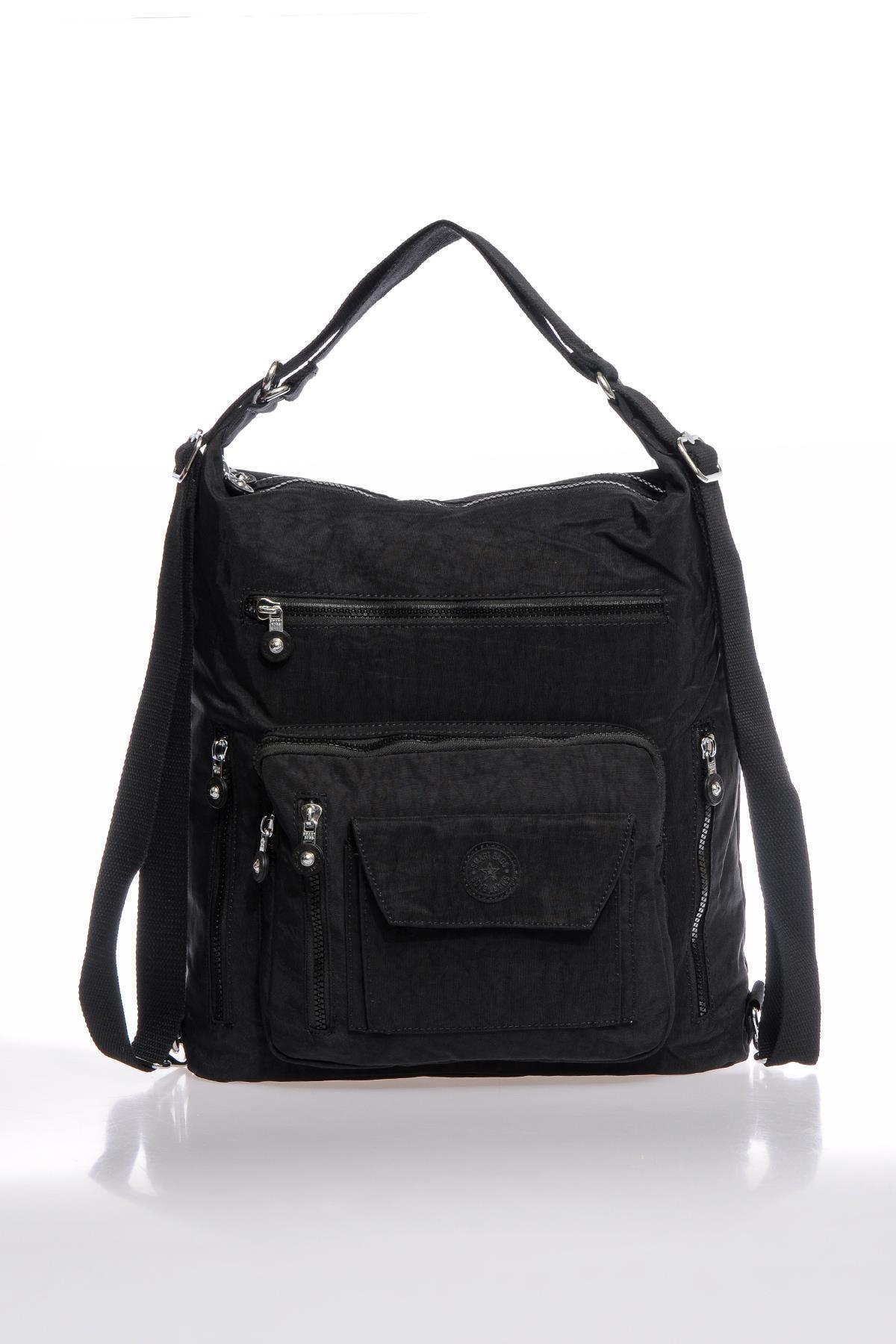 SMART BAGS Smbky1205-0001 Siyah Kadın Omuz Ve Sırt Çantası 2