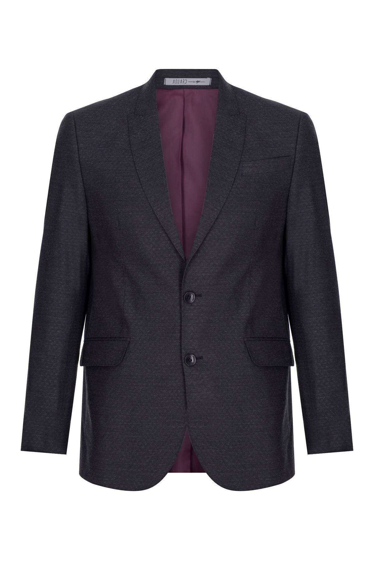 İgs Erkek Lacivert Slım Fıt / Dar Kalıp Ince Kırlangıç Takım Elbise 2