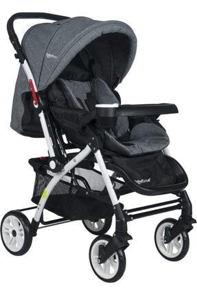Baby Force Secret Çift Yönlü Bebek Arabası Gri
