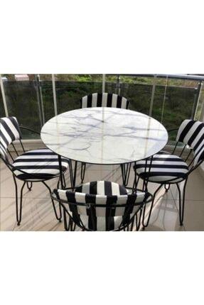 Evteks Halı &Perde Tel Sandalye Ve Yuvarlak Masa(Kişilik)