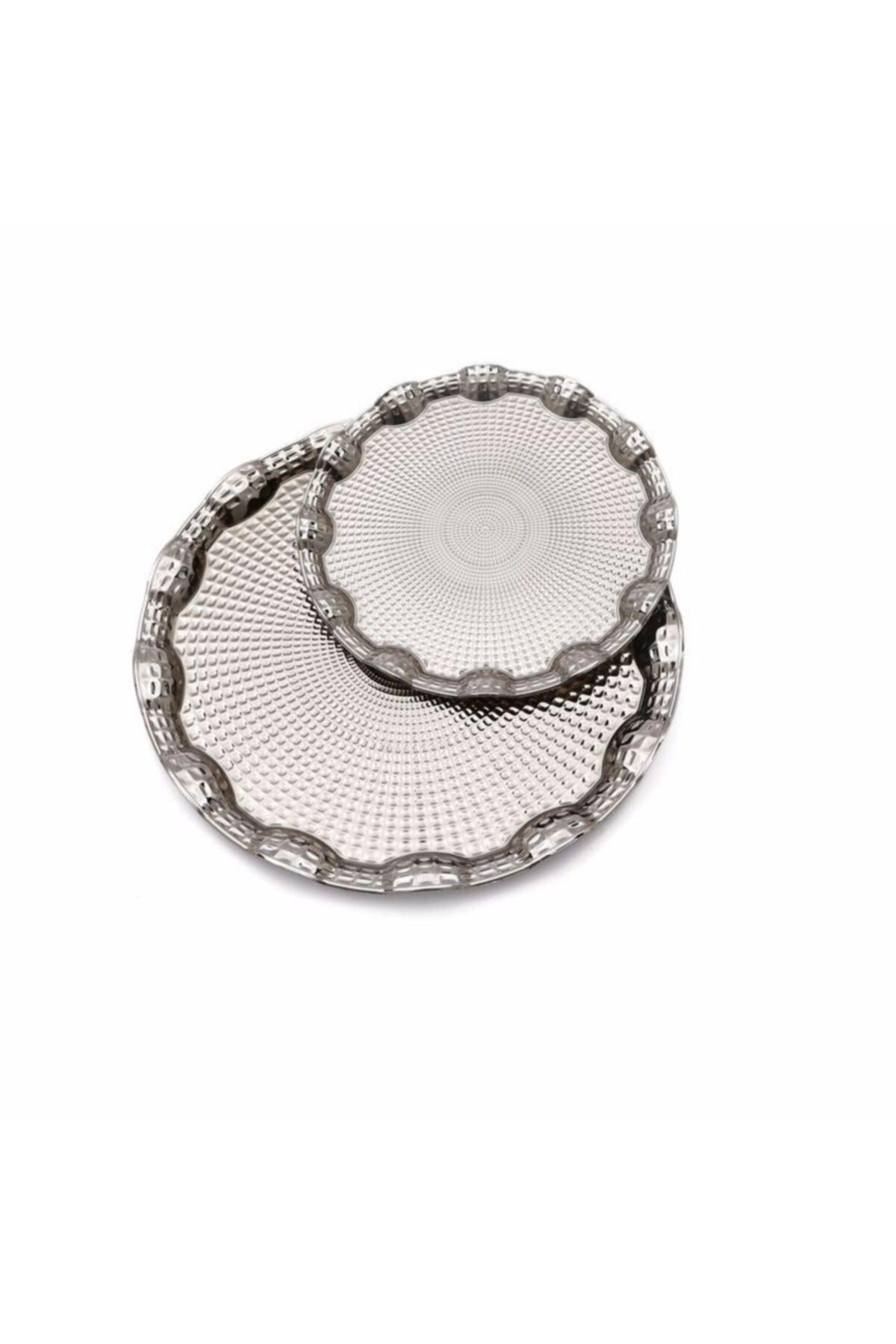 Dalgıç Gümüş Dalgıç 2 Li Bombeli Tepsi Gümüş 2