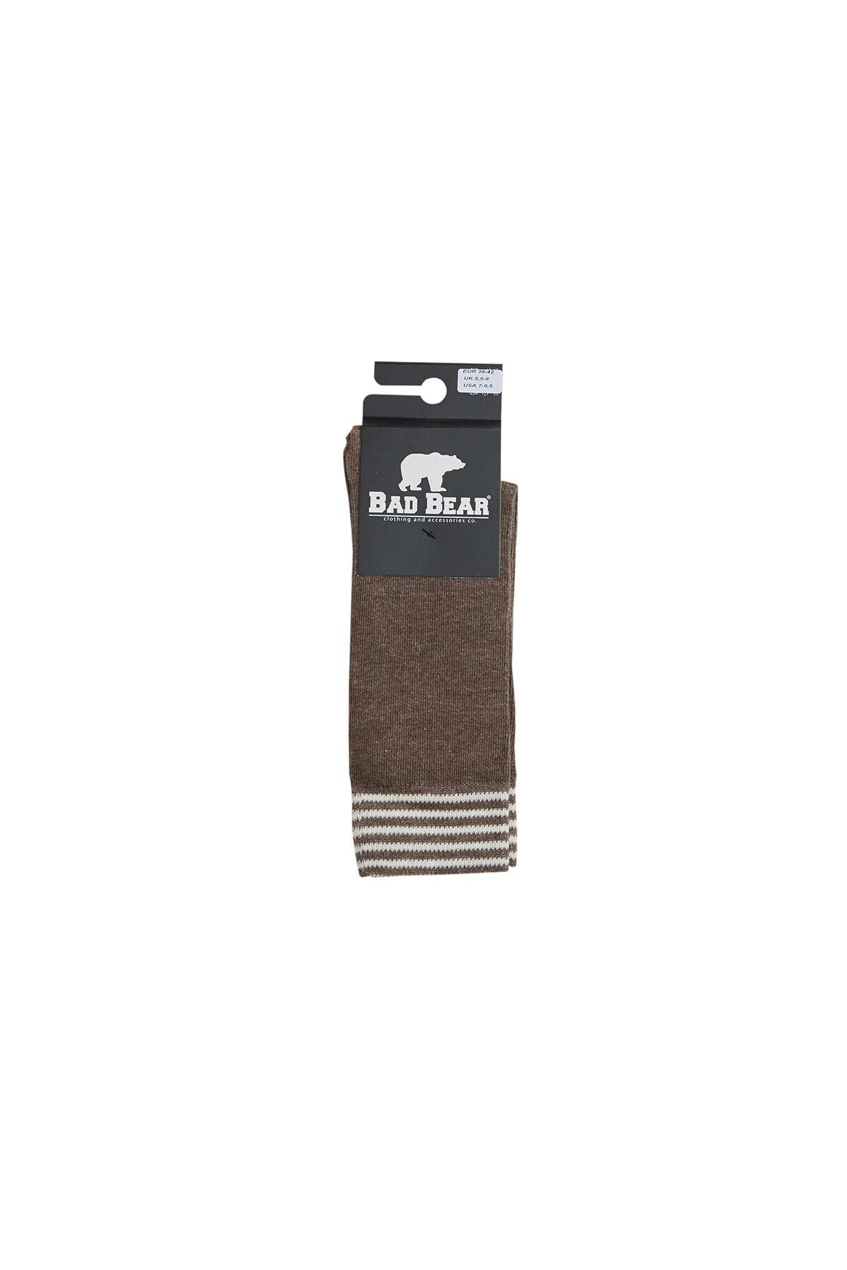 Bad Bear Sıenna Kahverengi Uzun Çorap 2