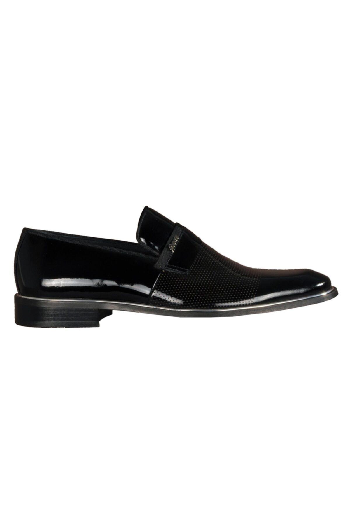 Fosco Siyah Erkek Hakiki Deri Klasik Ayakkabı 1