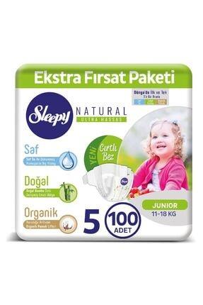 Sleepy 5 Numara Junior Natural Bebek Bezi 100 Adet