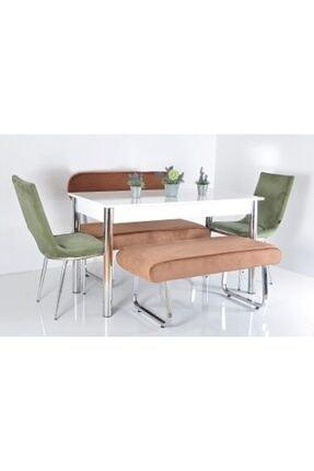 Kaktüs Avm 6 Kişilik Masa Sandalye Takımı Banklı Mutfak Masası Bank Takımı Masa Takımı Mutfak Masası Yemek Masa