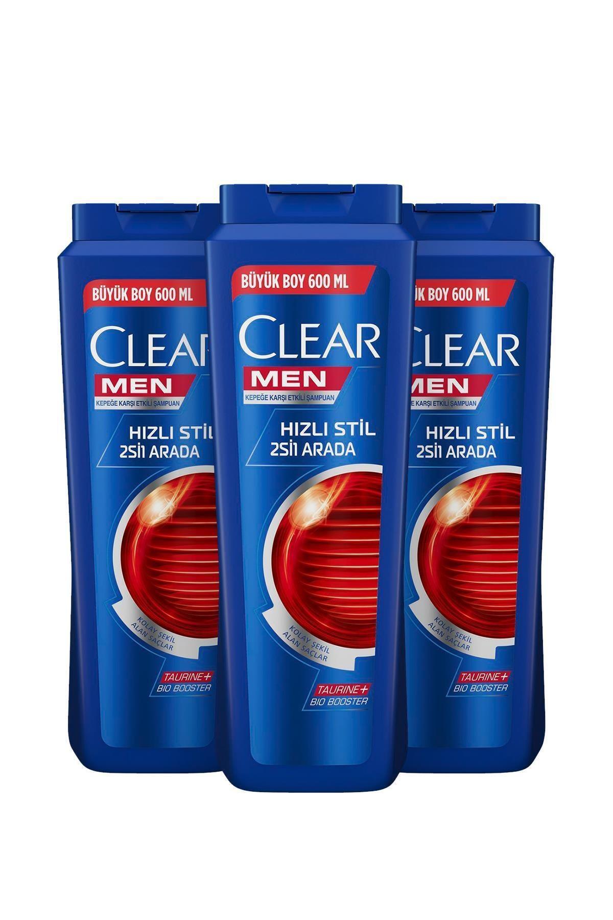 Clear Men Hızlı Stil 2si1 Arada Şampuan 600ml X3 2