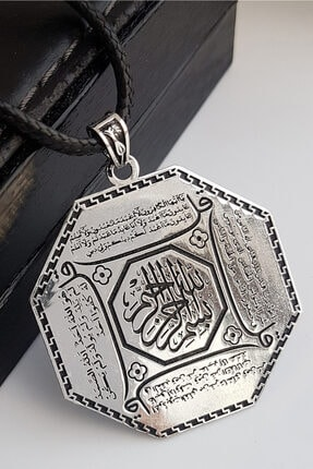 Gümüş Pazarım 4 Kul Duası Gümüş Kolye (Kafirun, Ihlas, Felak Ve Nas)