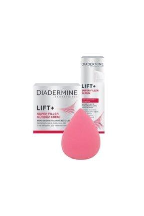 Diadermine Dıadermıne Lıft+superfıller Gündüz Kremi + Serum 40 ml +makyaj Süngeri