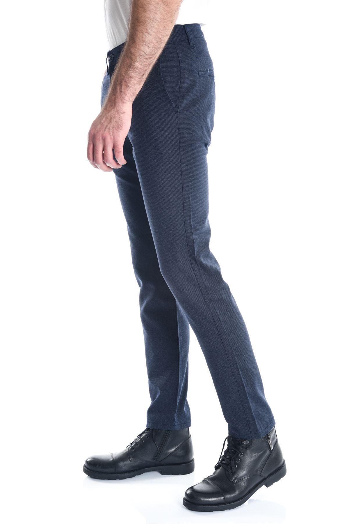 LTC Jeans Lacivert Desenli Armür Chino Erkek Pantolon 1