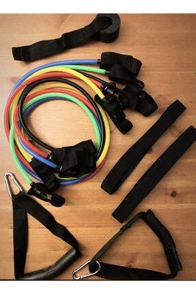 Universal Fitness Kardiyo 5'li Direnç Lastiği Güç Ayarlı Egzersiz Bandı Spor Seti