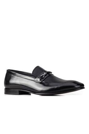 Cabani 5170 Kösele Taban Ayakkabı-(ms)-siyah Baby Bufalo