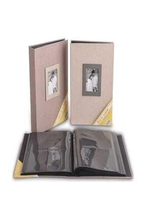 Acr 10×15 200'lük Koton Desenli Fotoğraf Albümü / -16wpp46200 Vizon
