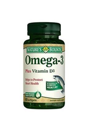 Nature's Bounty Omega-3 Plus Vitamin D3 60 Yumuşak Kapsül