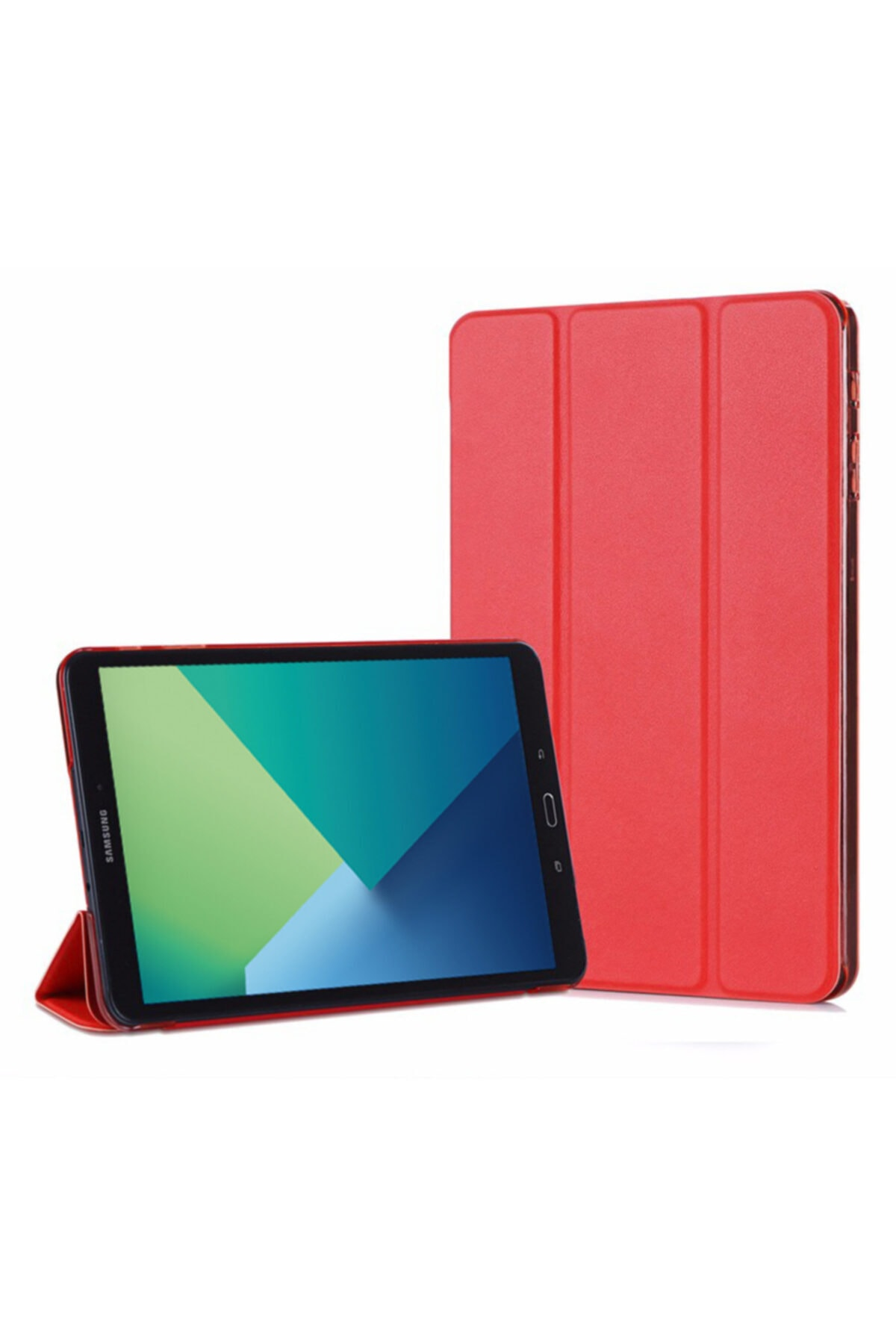 Microsonic Galaxy Tab A 10.1'' P580 Smart Case Ve Arka Kılıf, Microsonic Kırmızı 1