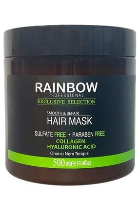 Rainbow Smooth Keratin & Collagen & Hyaluronic Acid Onarıcı Nem Terapi Saç Maskesi