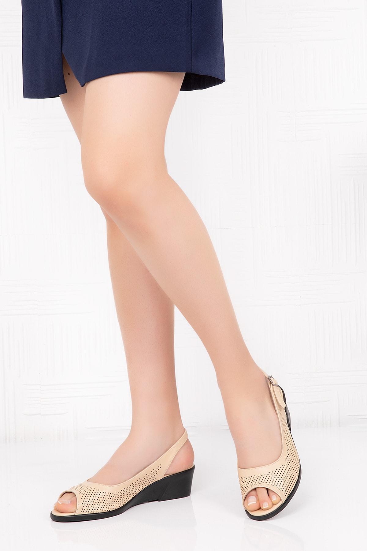 Gondol Hakiki Deri Anatomik Taban Sandalet 2