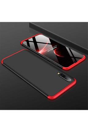 Göha Samsung Galaxy A50 Ays Kılıf,360° Ön Arka Tam Koruyucu Siyah-kırmızı